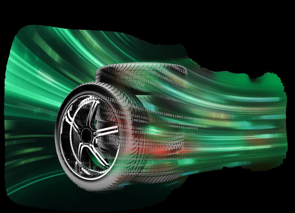 Reifen auf einem Stapel